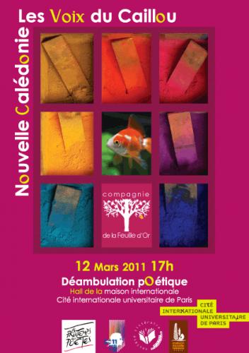Les voix du caillou - Affiche Dominique Martigne