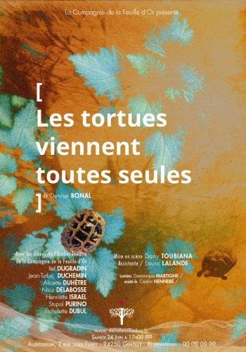 les Tortues viennent toutes seules - Comapgnie de la Feuille d'Or - Graphisme affiche Dominique Martigne