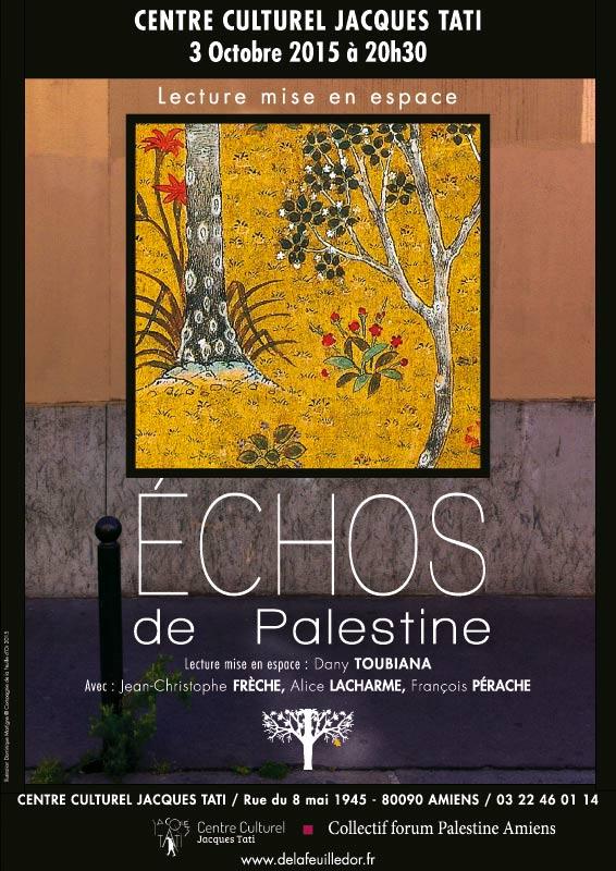Échos de Palestine - AMIENS 2015 - affiche