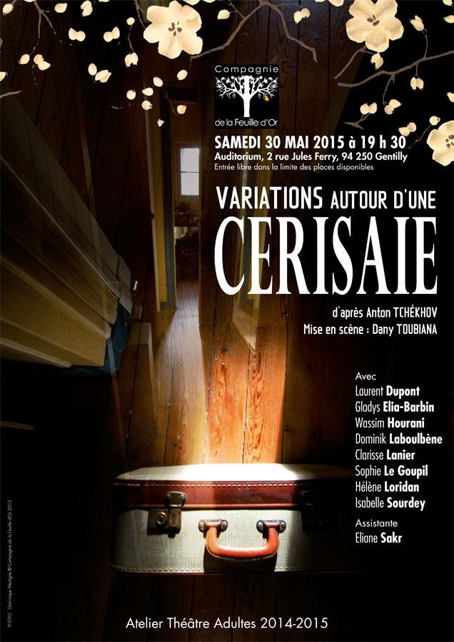 Cie de la Fueille d'Or - La Cerisaie-Affiche Dominique Martigne
