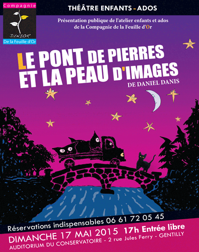 Affiche présentation de l'Atelier Théâtre enfants à Gentilly